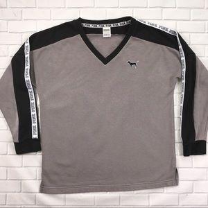 Victoria Secret PINK Sweater Black & Gray, Small.